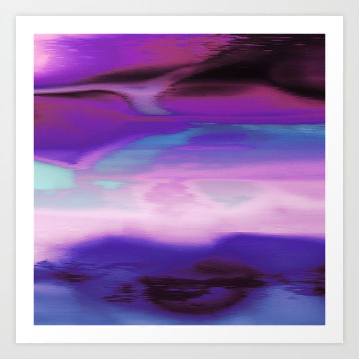 Aurora Purple Art Print
