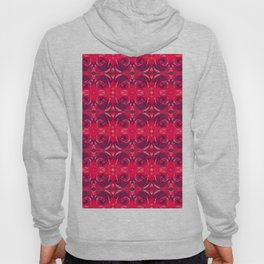 Red Rose Pattern 665 Hoody