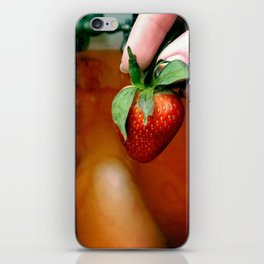 Strawberry bath iPhone Skin