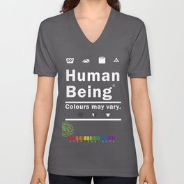Anti-Racist Human Beings Colors may Vary Unisex V-Neck
