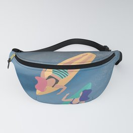 Surf Sisters - Muted Ocean Color Girl Power Fanny Pack