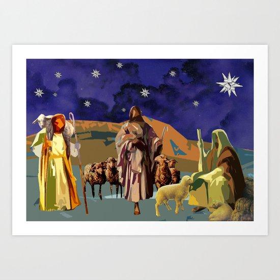The Christmas Story Shepherds Art Print