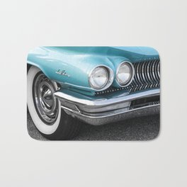 Vintage Car Photography | Turquoise Bedroom Art Bath Mat