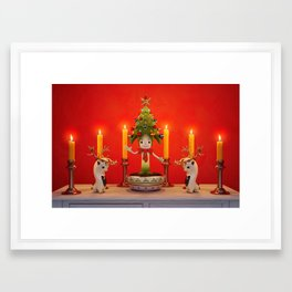 The Little Christmas Tree Framed Art Print