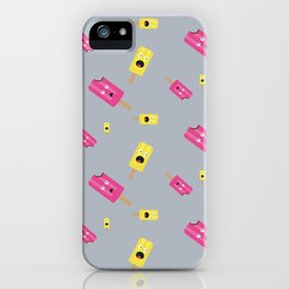 Icecream in yellow and pink Pattern iPhone Case