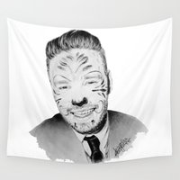 liam payne Wall Tapestries featuring Liam Payne with painted face by Drawpassionn