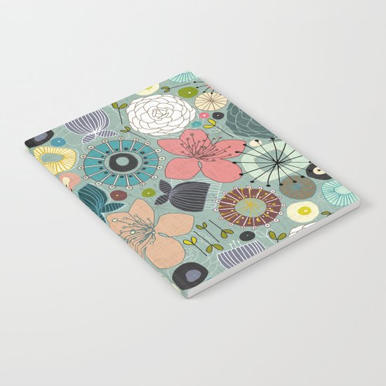 oriental blooms Notebook