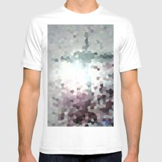 Hex Dust 1 MEDIUM Mens Fitted Tee White