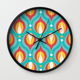 Colorful Dewdrops Wall Clock