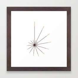 #314 The sun shell – Geometry Daily Framed Art Print