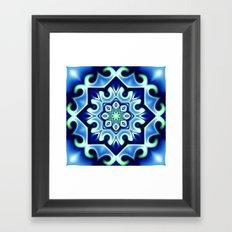 Ice flower Framed Art Print