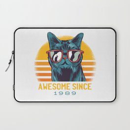 Awesome Cat Since 1989 Laptop Sleeve