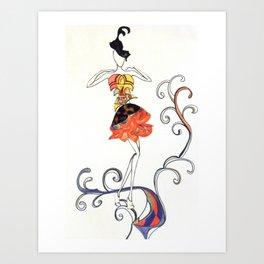 Fashion Sketch 6. Summer Fairy 2 Art Print