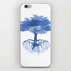 Heart Tree - Blue iPhone & iPod Skin