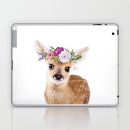 Baby Deer with Flower Crown Laptop & iPad Skin