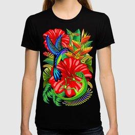 The Lizard, The Hummingbird and The Hibiscus T-shirt