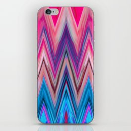 Bright Pink Teal Ikat Chevron Aztec Pattern iPhone Skin