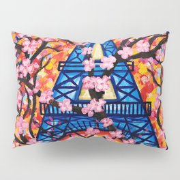 Paris Cherry Blossoms Pillow Sham
