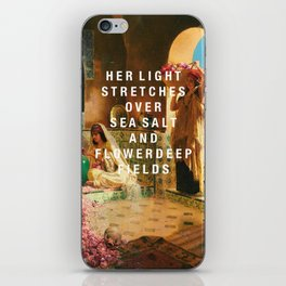 her light stretches iPhone Skin
