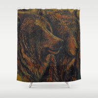 bears Shower Curtains featuring Bears by lyneth Morgan