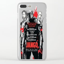 Jango Unchained T-Shirt Clear iPhone Case