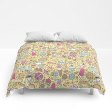 Sweet candy pattern (yellow) Comforters