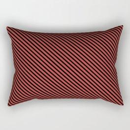 Aurora Red and Black Stripe Rectangular Pillow