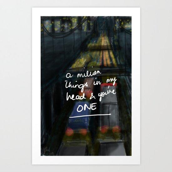 A Million Things Art Print