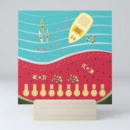 Summer Fun at the Watermelon Beach Mini Art Print