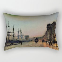 John Atkinson Grimshawn - Canny Glasgow - Digital Remastered Edition Rectangular Pillow