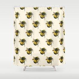 Vintage Scientific Bee Shower Curtain