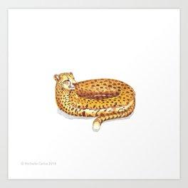 Cheetah Doughnut Art Print