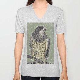 Black-chested buzzard-eagle (Geranoaetus melanoleucus) Unisex V-Neck