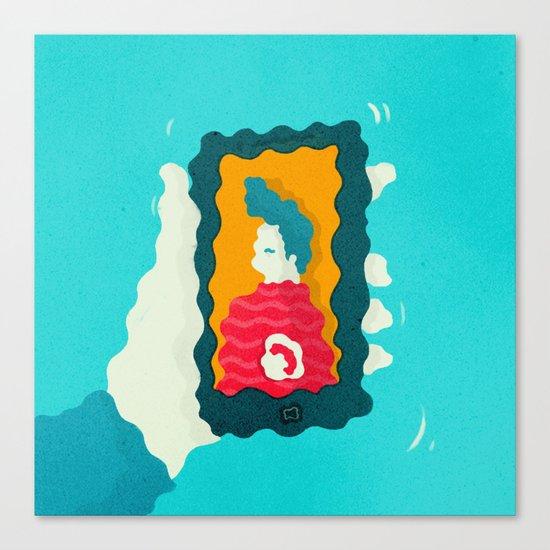 Drunk Dialing Canvas Print