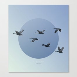 [4.10—4.14] Wild Geese Fly North Canvas Print