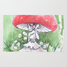 Empire of Mushrooms: Amanita Muscaria Rug