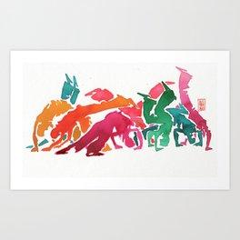 Capoeira 239 Art Print