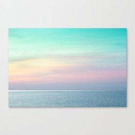 Pastel retro Malibu VII calm ocean & sky Canvas Print