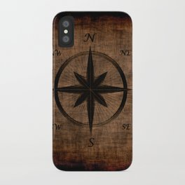 Nostalgic Old Compass Rose iPhone Case
