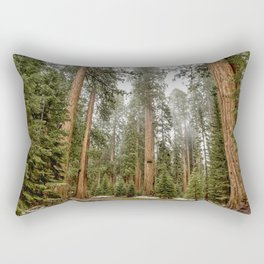 Sequoias in the Fog Rectangular Pillow