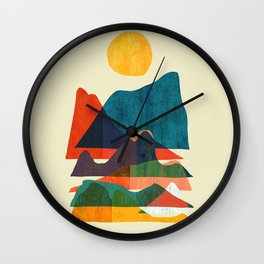 Everything is beautiful under the sun Wall Clock