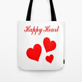 Happy Heart Tote Bag