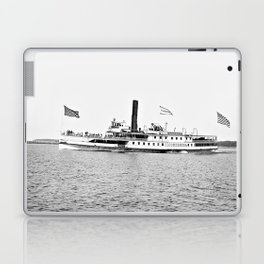 Ticonderoga Steamer on Lake Champlain Laptop & iPad Skin