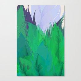 After The Rain Emerald Green Canvas Print