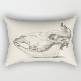 Cow Skull Rectangular Pillow
