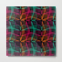 Neon threads Metal Print