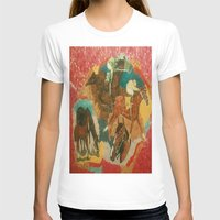 racing T-shirts featuring Racing Collage by Connie Campbell