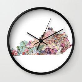 Kentucky map Wall Clock