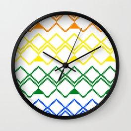 LGBT pattern Wall Clock
