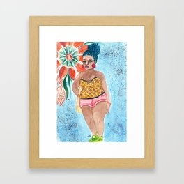 Blue Braids Framed Art Print